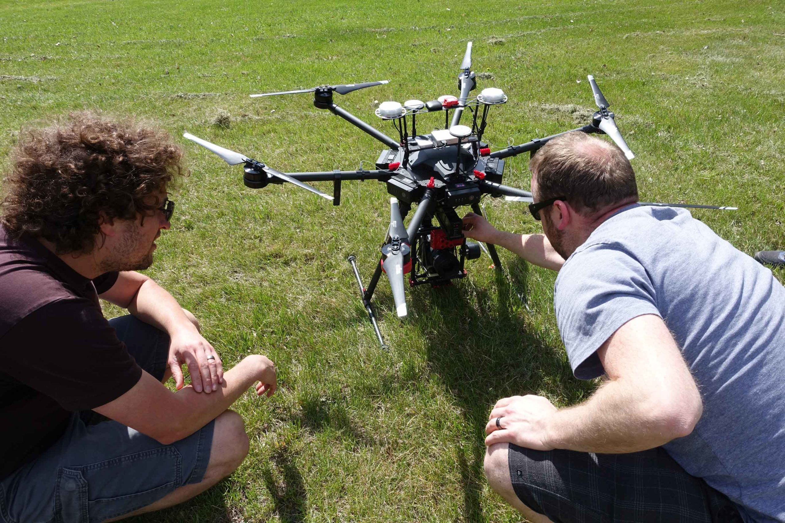 On-site drone training
