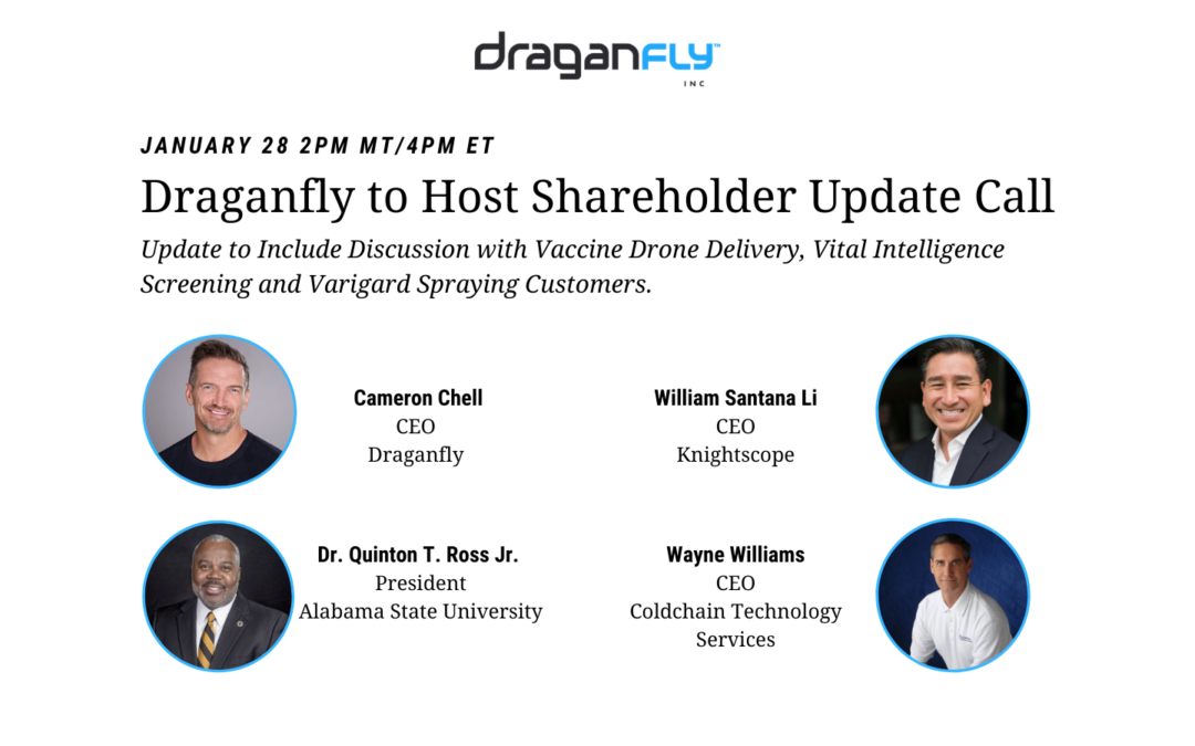 Draganfly to Host Shareholder Update Call